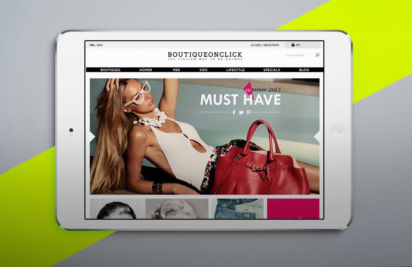 Boutique on click